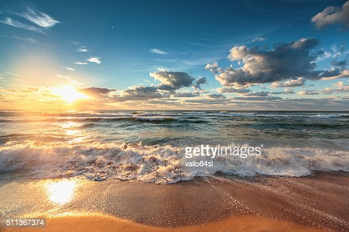 Beautiful cloudscape over the sea : Stock Photo