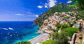 Pictorial coast Amalfitana. Campania region of Italy