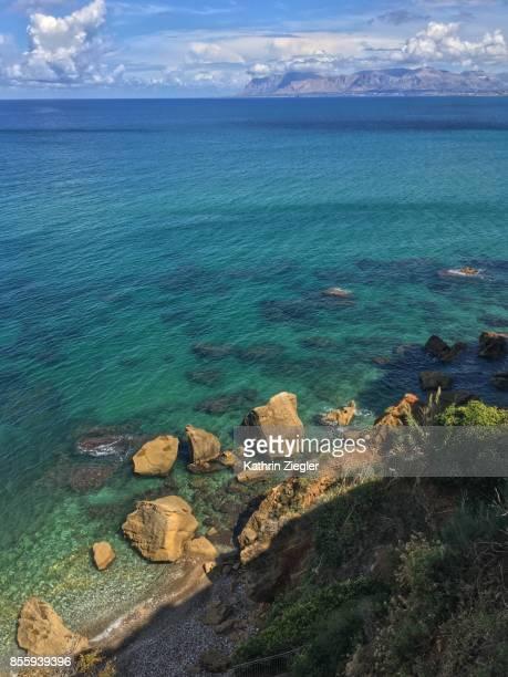 Beautiful coastline at Castellamare del Golfo, Sicily