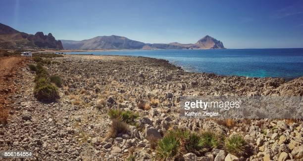 Beautiful coastline near San Vito lo Capo, northern Sicily