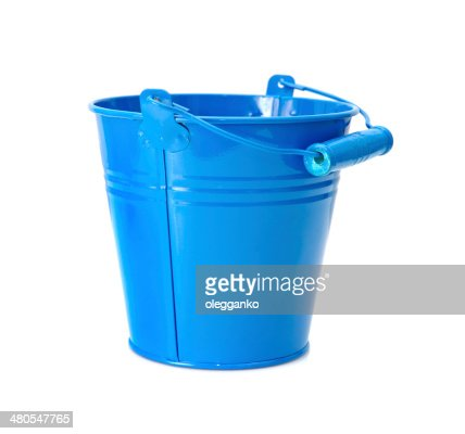 Beautiful Colorful Buckets Isolated on White Background : Stock Photo