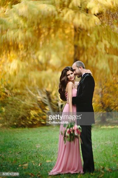 Beautiful couple of people in love