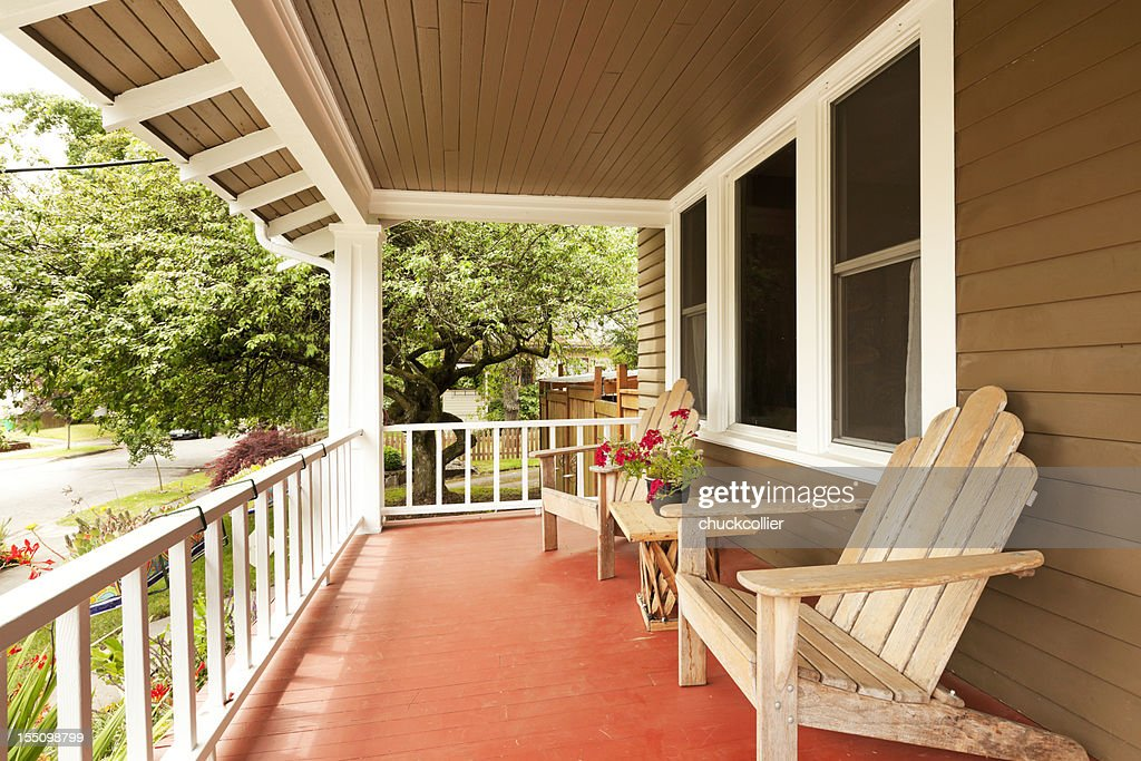 Beautiful Covered Porch Stock Photo Getty Images