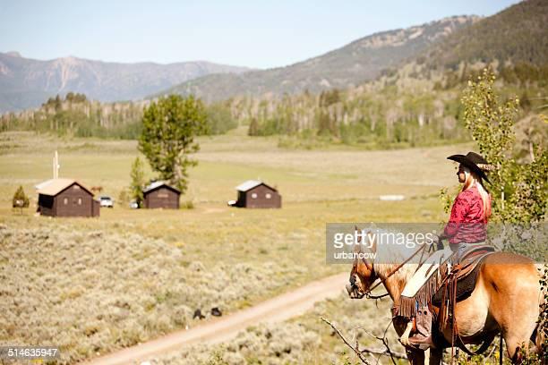Beautiful cowgirl, Montana