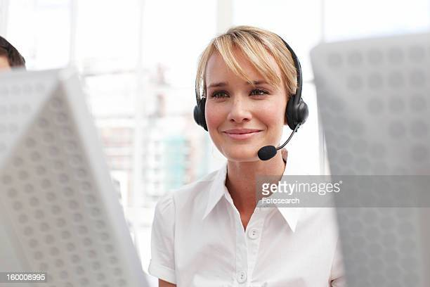 Beautiful customer support agent