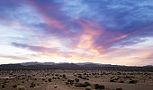beautiful dawn on a desert landscape in southern california