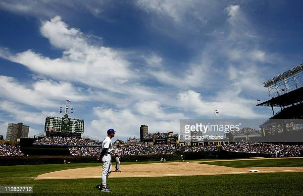A beautiful day at Wrigley Field as the Chicago Cubs play host the Los Angeles Dodgers in Chicago Illinois on Thursday May 27 2010 The Cubs went on...