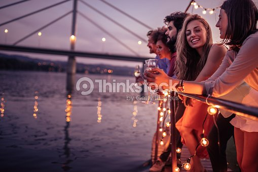 Beautiful day for a cruise : Stock Photo