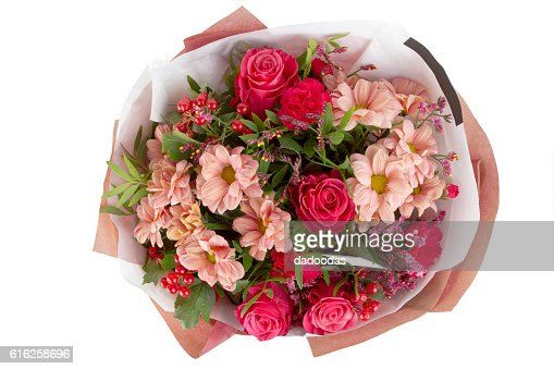 beautiful, delicate bouquet of flowers on isolated background : Stock Photo