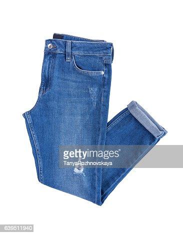 Beautiful denim pants. : Stock Photo
