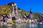 Beautiful Dinant At The River Meuse in Belgium.