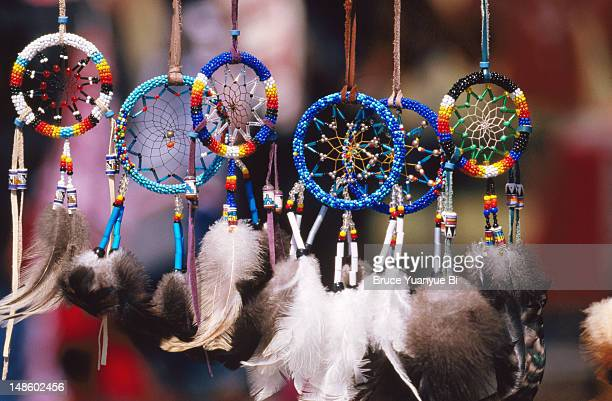 Beautiful dream catchers for sale at Mashantucket Pequot Tribal Nation hosted Schemitzun Powwow.