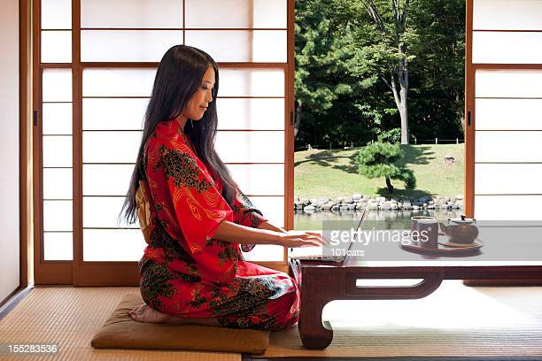 beautiful east asian woman