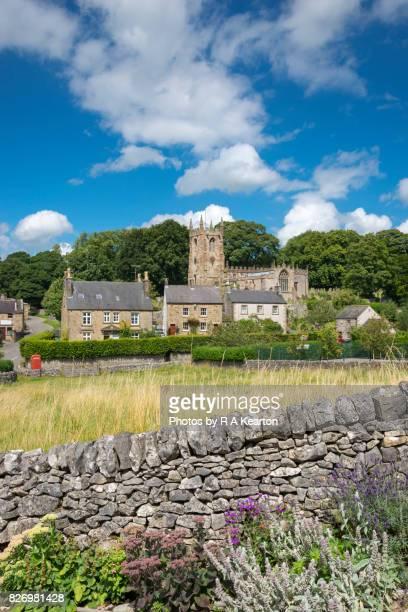 Beautiful English village in summer, Hartington, Derbyshire