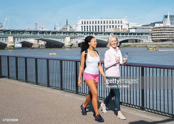 Beautiful English Women Relaxing After workout