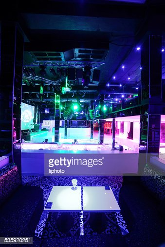 beautiful european night club interior : Stock Photo