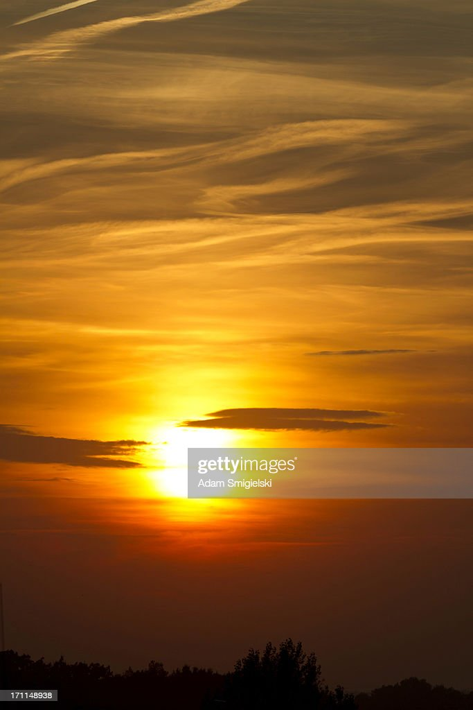 beautiful evening sunset : Stock Photo