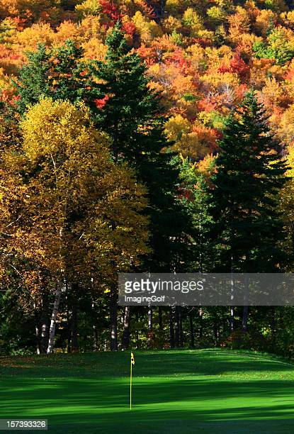 Beautiful Fall Golf Scenic of Course in Appalachians