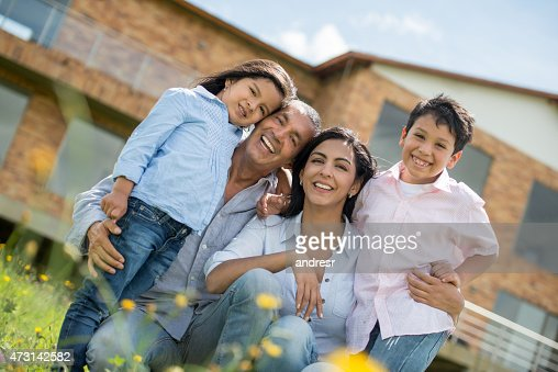 Beautiful family portrait at home