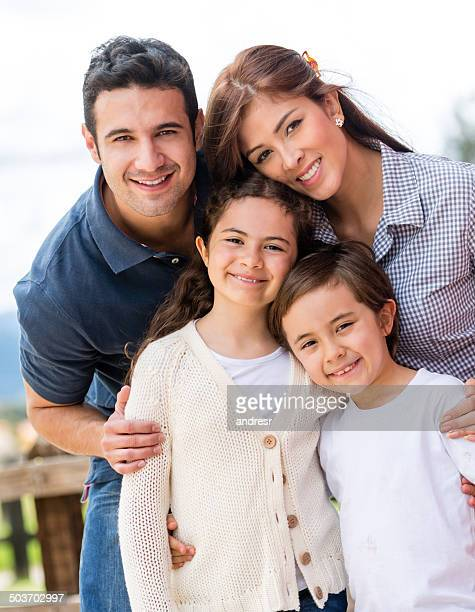 Schöne Familien portrait