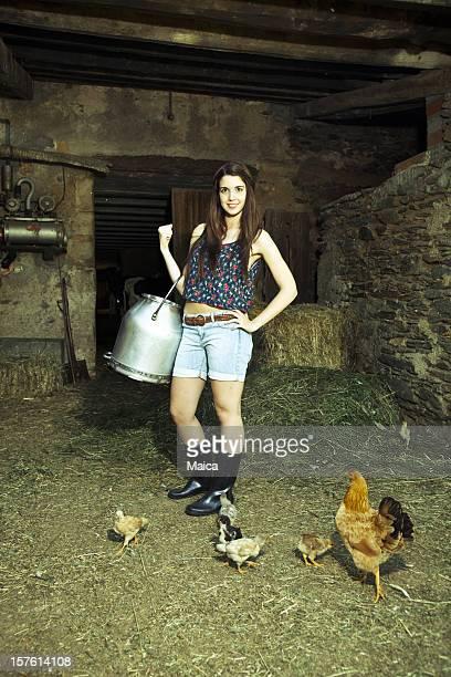 Wunderschöne farmer Mädchen