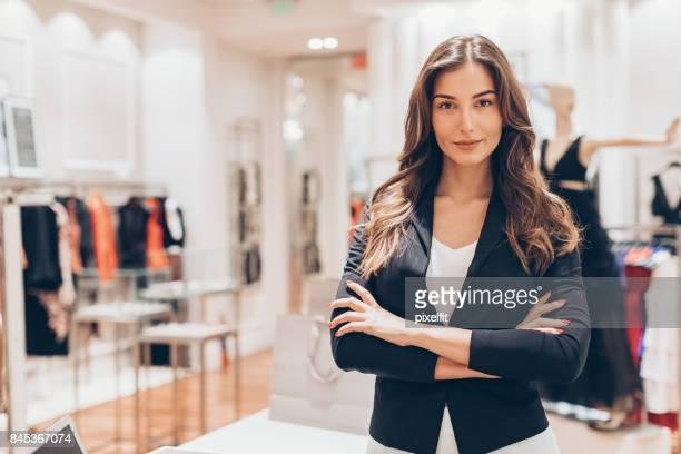 Beautiful fashion store owner