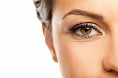 beautiful female brown eye