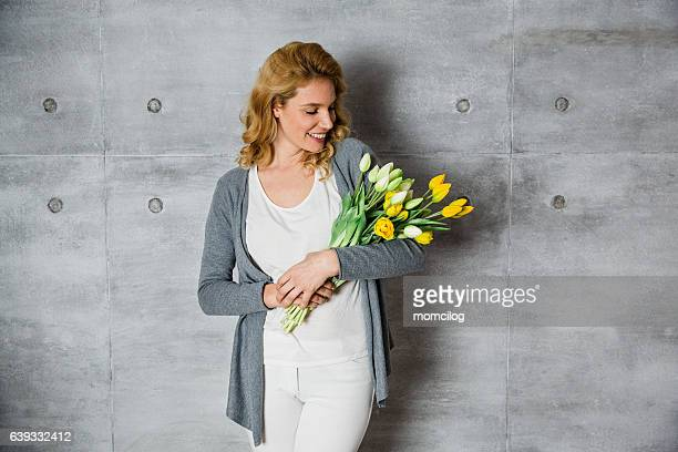 Beautiful female florist