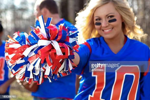 Beautiful female football fan