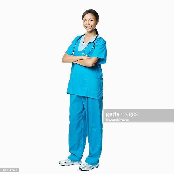 Schöne weibliche medizinische professionelle-isoliert
