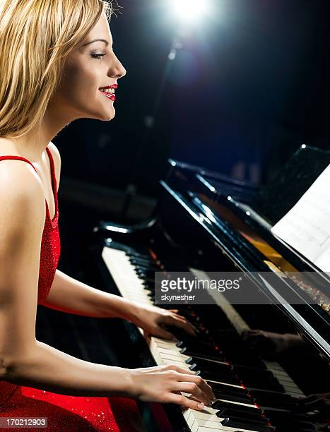 Beautiful female pianist