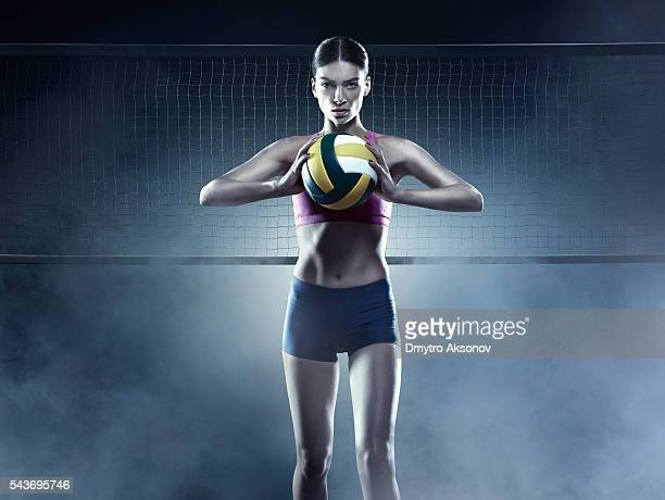 Beautiful female volleyball player