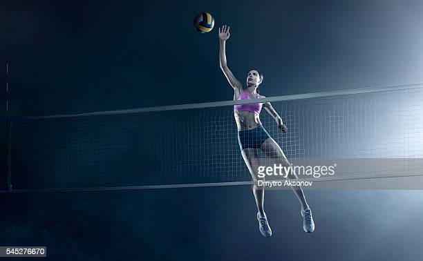 Belle femme Joueur de volley-ball