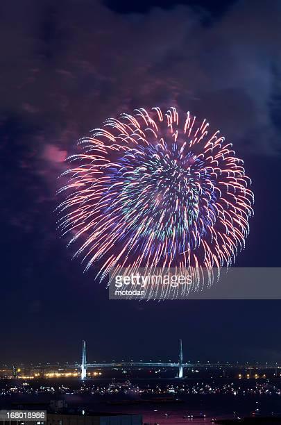 Beautiful fireworks in Yokohama ,Japan