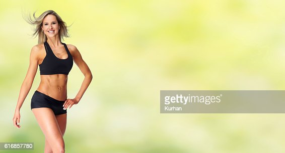 Beautiful fitness girl. : Stock Photo