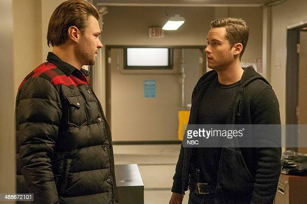 D 'A Beautiful Friendship' Episode 115 Pictured Patrick Flueger as Adam Ruzek Jesse Lee Soffer as Jay Halstead