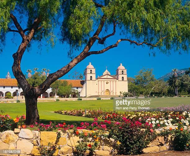 Beautiful garden at Santa Barbara Mission
