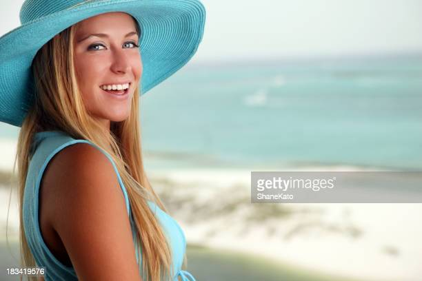 Beautiful Girl at the Beach Smiling