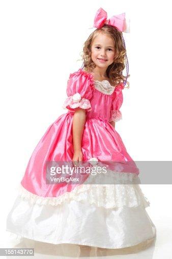 A beautiful girl dressed like a little princess