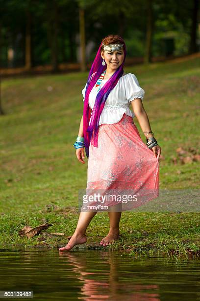 Beautiful girl gypsy