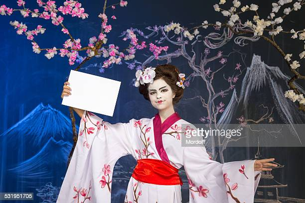 Beautiful girl in kimono