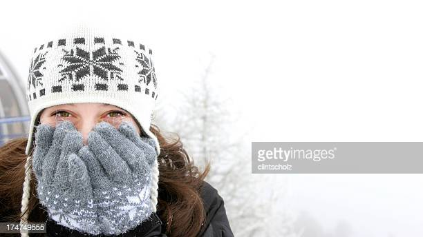 Beautiful Girl in Snow