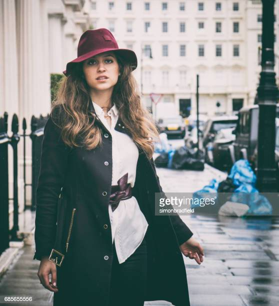 Beautiful Girl On The Streets Of London