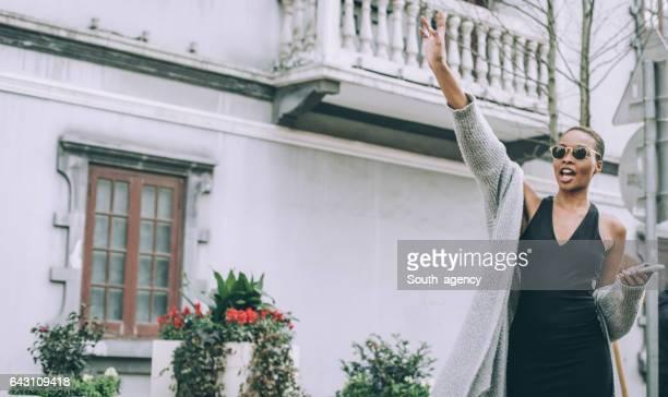Beautiful Girl waving