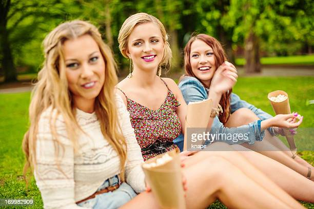 Beautiful girls out in summer