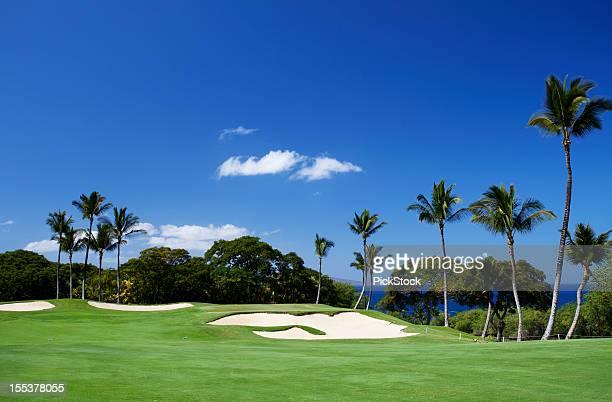 Magnifique parcours de Golf sur l'île de Maui, à Hawaï