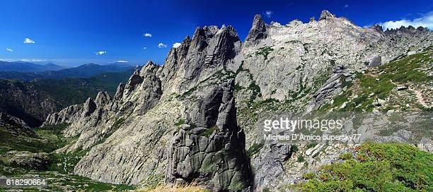 Beautiful granite mountain in Corsica