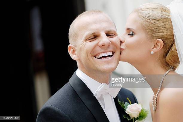 Beautiful happy wedding couple