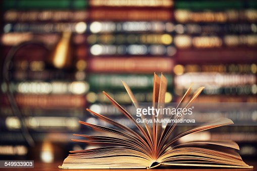 Beautiful Hardcover Book : Beautiful hardcover book golden tones stock photo getty