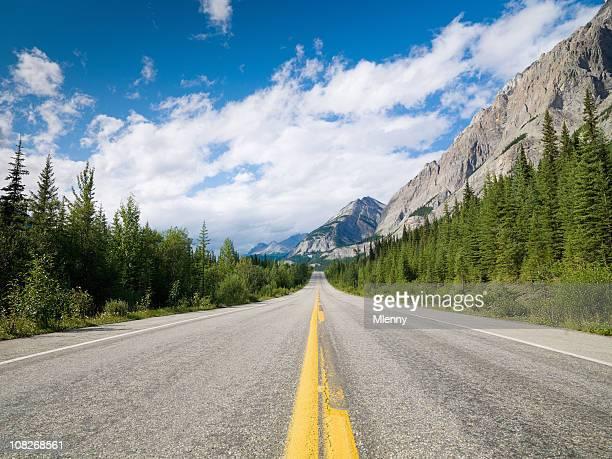ロッキー山脈の美しい Highway
